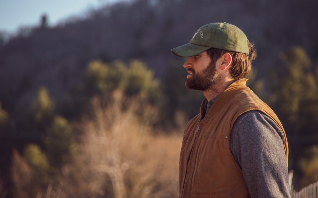 Dan in the winter pasture